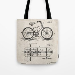 Bike Patent - Bicycle Art - Antique Tote Bag