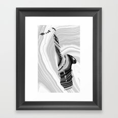 Marbled Music Art - Saxophone - Sharon Cummings Framed Art Print