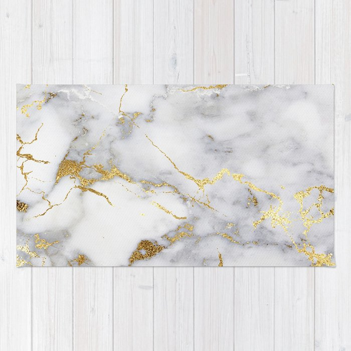 Italian Gold Marble Rug By Hunterofwoods Society6