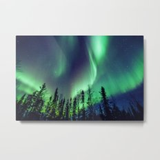 Northern Lights in Yellowknife Metal Print