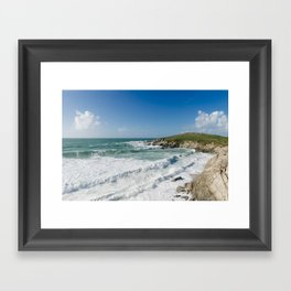 Little Fistral, Newquay, Cornwall Framed Art Print