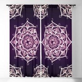 Violet Glowing Spirit Mandala Blackout Curtain