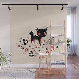 Deer in Black Wall Mural