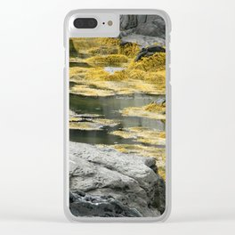 Yellow Seagull Clear iPhone Case