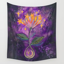 New moon bloom Wall Tapestry