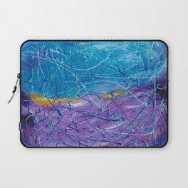 Purple/Blue Abstract Laptop Sleeve