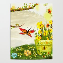 Sun Shiney Day Whimsical Spring Poster
