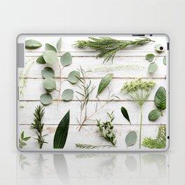 Green Botanical Flowers Laptop & iPad Skin