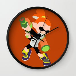 Inkling Boy (Orange) - Splatoon Wall Clock