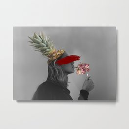 Blind Society Collage Art Metal Print