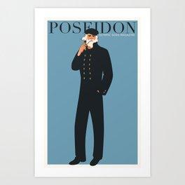 Olympic Gods Magazine: Poseidon Art Print