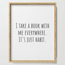 Take a Book Serving Tray