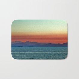 Sunset on Lake Taupo Bath Mat