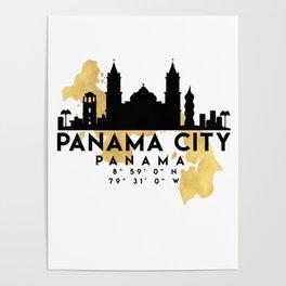 PANAMA CITY PANAMA SILHOUETTE SKYLINE MAP ART Poster