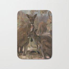 Vintage Kangaroo Painting (1909) Bath Mat