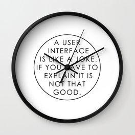 Programmer - UI / UX Designer Wall Clock