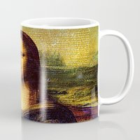 da vinci Mugs featuring The Da Vinci Code by  Agostino Lo Coco
