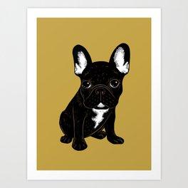 Brindle French Bulldog Art Print