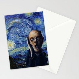 Starry Scream Stationery Cards