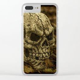 Halloween Skull 1 Clear iPhone Case