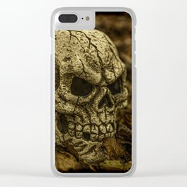 Halloween Skull 1 Clear iPhone Case