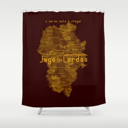 "Vaca - MP: ""Jogo das Cordas"". Shower Curtain"