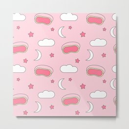 cute lovely pattern with sleeping mask Metal Print