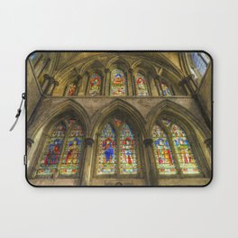 Rochester Cathedral Stained Glass Windows Art Laptop Sleeve