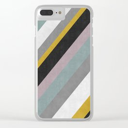 Minimalist tracks Clear iPhone Case