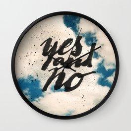 Yes and No Wall Clock