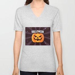 Scary Pumpkin - Happy Halloween 2 Unisex V-Neck