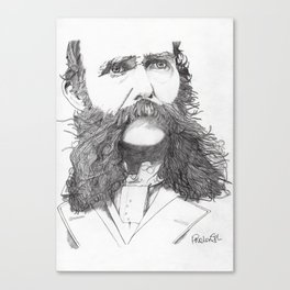 Moustache Canvas Print