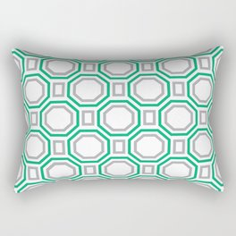Green Harmony in Symmetry Rectangular Pillow