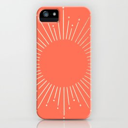 Simply Sunburst in Deep Coral iPhone Case
