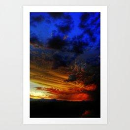 Cascade sunset. Art Print