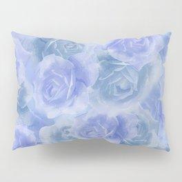 Rosey Blue Pillow Sham