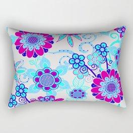 Happy Hippy Flower Power Rectangular Pillow