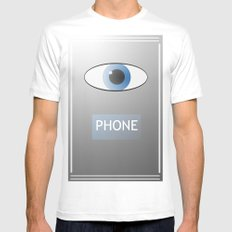 Eye Phone MEDIUM White Mens Fitted Tee