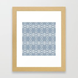 Web Navy Framed Art Print