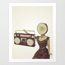 Neutral Milk Boombox Art Print