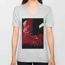 Kiss Me (Blood Red) Unisex V-Neck