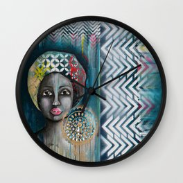 mother africa Wall Clock