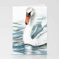 swan Stationery Cards featuring Swan by rchaem