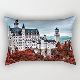 The Castle of Mad King Ludwig in the Autumn, Neuschwanstein Castle, Bavaria, Germany Rectangular Pillow