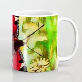 Peacock Butterfly Dream   Aglais io - Oil Painting Coffee Mug