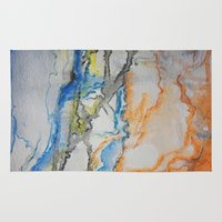 reassurance Area & Throw Rugs featuring Abstract colors 1 by Magdalena Hristova