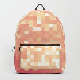 Peach Sparkle Pixels Backpack