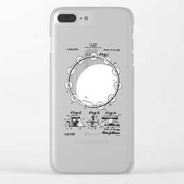 patent art Barry Tambourine 1922 Clear iPhone Case