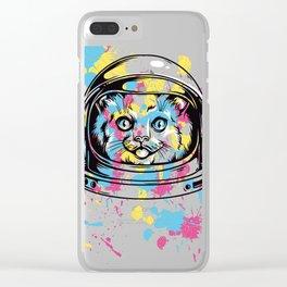 Astronaut Cat Clear iPhone Case