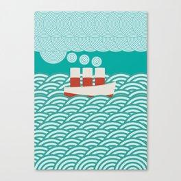 Steam Boat Canvas Print